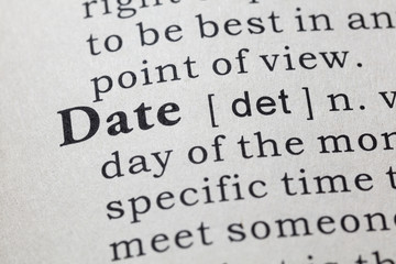 definition of date