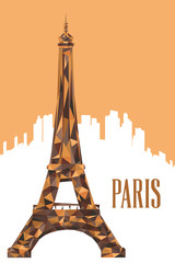 Eiffel Tower Poster Illustration