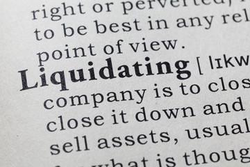 definition of  liquidating