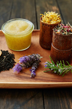 Spa still life with fresh natural ingredients