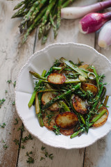 Asparagus and roasted potatoes