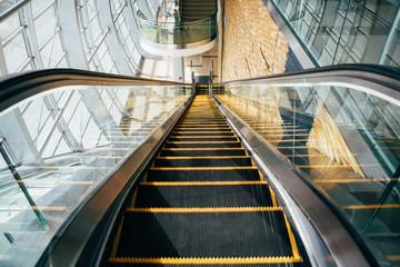Escalator on metro station