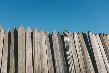 Detail of wood fence