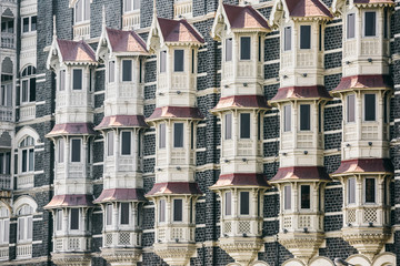 Texture of colonial building. Mumbai, India