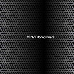 Carbon Fiber Texture. Black and White Halftone Vector Background. Abstract Technology Vector Template.