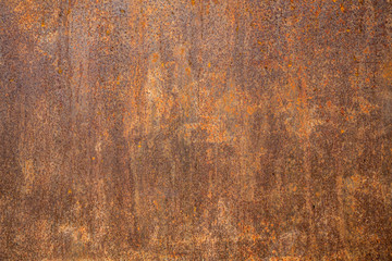 Rusted steel as texture and background