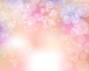 Abstract Feminine Bokeh of Lights Background Illustration