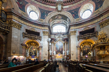 Visiting St. Peter's Church in Vienna, Austria's capital