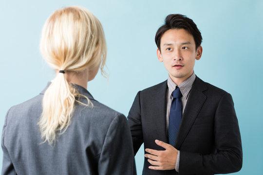 ビジネスマン 英会話イメージ