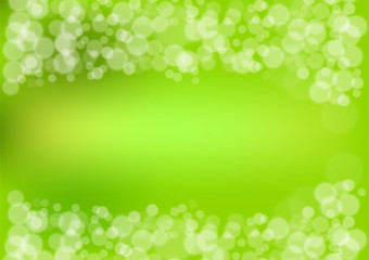 green bokeh background, Vector illustration