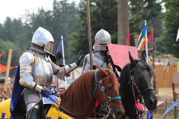 medievil knights prpare for battle