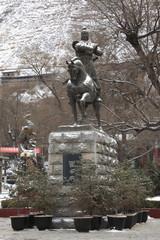 五泉山公園の霍去病騎馬像