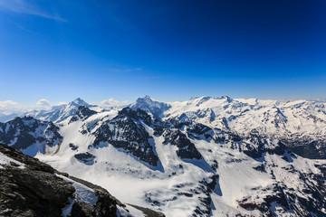 The snow mountain range mountain range from the Titlis is a mountain.