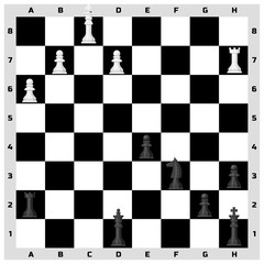 Chess board seamless pattern background chessmen leisure concept knight group white and black piece competition vector illustration