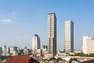 Modern skyscrapers in the heart of Jakarta business district