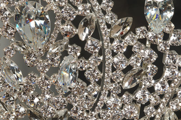 Diamon Silver Crown for Miss Pageant Beauty Contest, Crystal Tiara decorate