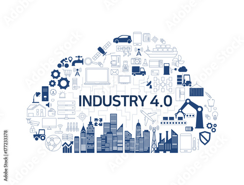 Industry 40 Iot Cloud Icon
