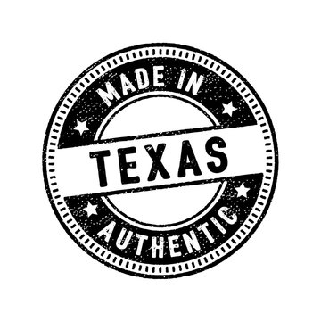 made in texas authentic rubber stamp icon