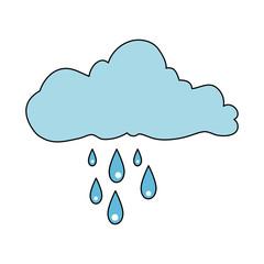 cloud sky rainy icon