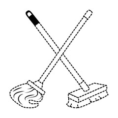 mop and brush icon