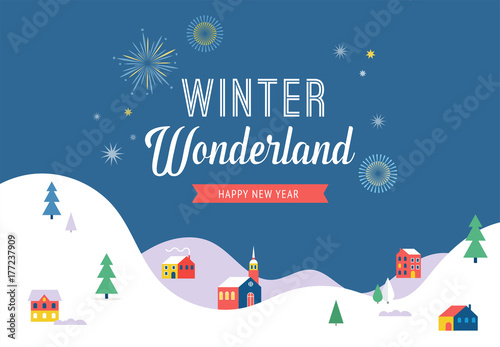 Winter wonderland merry christmas banner background and winter wonderland merry christmas banner background and minimalistic greeting card m4hsunfo