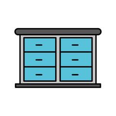 furniture bathroom drawers cabinet wooden