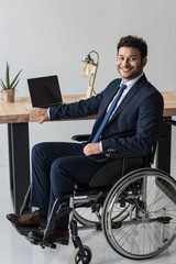 disabled african american businessman