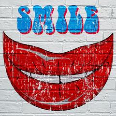Graffiti, sourire