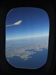 航空機内より 離着陸