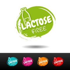 Wall Mural - Set of Lactose free badges. Vector hand drawn labels.