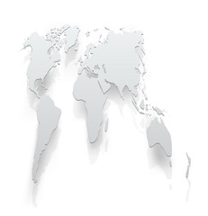 Image of world map paper. The concept illustration