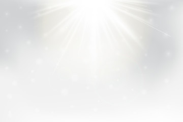 Abstract Sun Shining Background with lens flare.