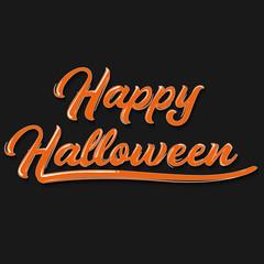 Happy Halloween graffiti typography. Vector illustration.