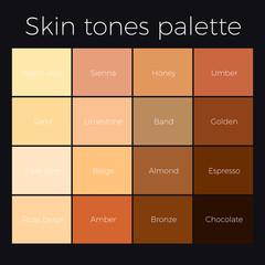 skin tones chart