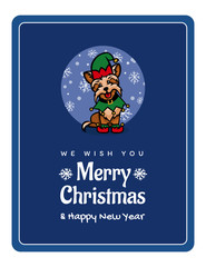 yorkshire terrier little assistant santa