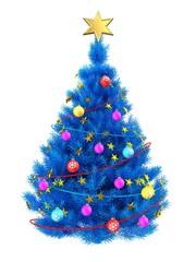 3d blue Christmas tree