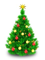3d vibrant Christmas tree