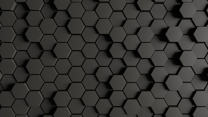 Green honeycomb Hexagon Wall mural
