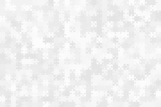 Grey Puzzles Pieces Jigsaw - Vector Background.