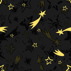 Seamless hand drawn star pattern