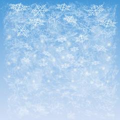 Abstract snowfall, illustration