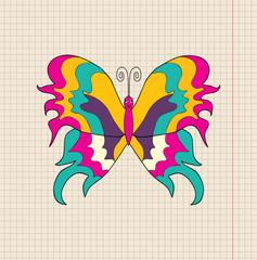 butterfly cartoon, vector