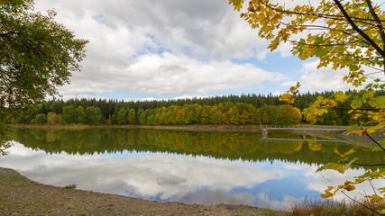 Herbst am Frankenteich im Harz