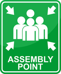 assembly point, sticker