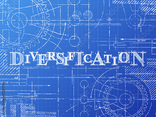 Diversification blueprint technical drawing stock image and diversification blueprint technical drawing malvernweather Image collections
