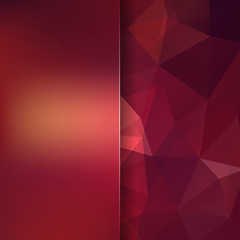 Abstract polygonal vector background. Brown geometric vector illustration. Creative design template. Abstract vector background for use in design