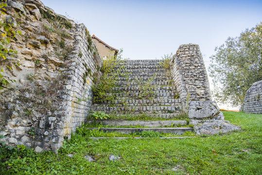 Théâtre Antique romain, détail, Autun, Bourgogne, France, Saône-et-Loire