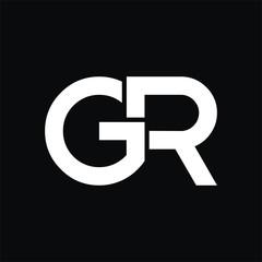 GR logo initial letter design template vector