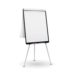 Realistic Flip Chart Vector. Good For Presentation, Seminar. Isolated Illustration