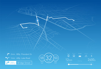 Custom Navigation system vector illustration